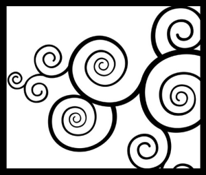 black swirls against a white background - link to opt-out information